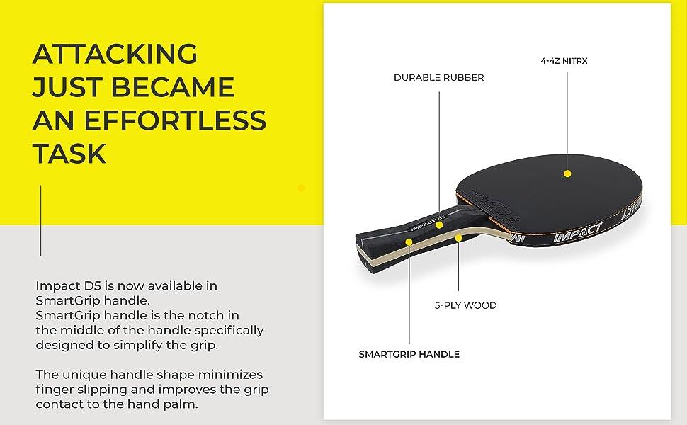 d5 smartgrip ping pong paddle