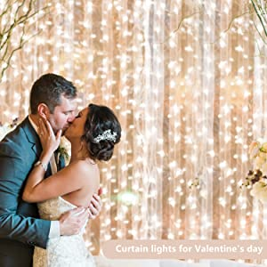 curtain lights for wedding