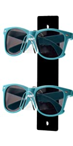 Marketing Holders Sunglasses Eyeglasses Display with Black Back Wall Mount Glasses Nose 2 Tier