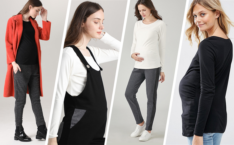 maternity side ruched top