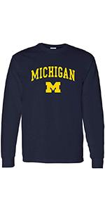 NCAA Arch Logo Adult Long Sleeve T Shirt