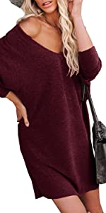Womens Off the Shoulder Tunic Tops