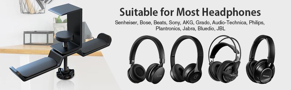 headphone hook under desk dual