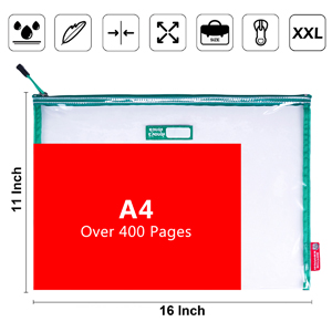 extra large plastic clear file folder for storing A4 letter size document legal pads manila folders