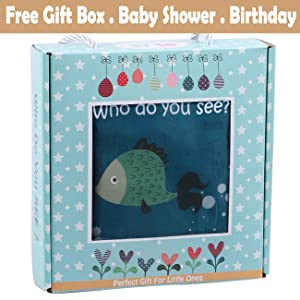 baby shower gift box toy book cloth book christmas birthday gift soft book baby book toy infant fish