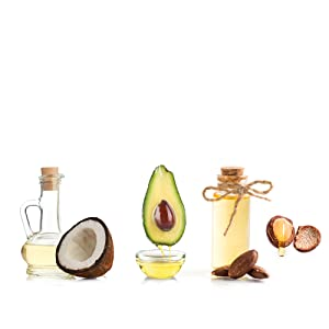 argan oil, avocado oil, coconut oil, sweet almond oil