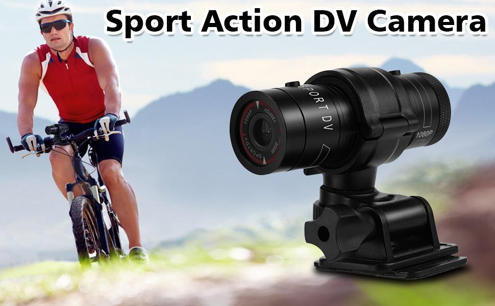 Mini SPORTS Dv Appareil Photo Vid/éo Full HD Dv Cam/éscope 120-Degree Grand Angle Ext/érieur Mouvement Vid/éo Enregistreur Pour Vtt Moto Casque Bicyclette F9 Elikliv HD 1080P Vid/éo Cam/éra Action
