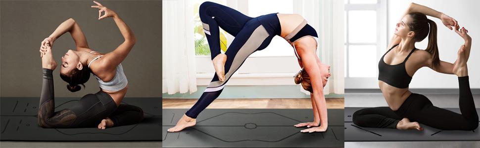 ER-NMBGH Stampa Yoga Mat Spessore Ad Alta Densit/à Ecologica Di Slittamento Non Esercizio Mats Per Pilates Yoga Di Forma Fisica Mat Assorbire Il Sudore Coperta Pilates Stampa Antiscivolo Asciugamano