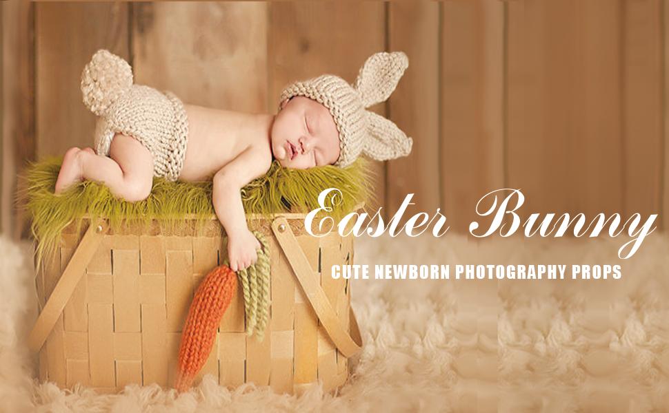 Newborn Set Easter Bunny Newborn Set Newborn Net Photoprops Baby Photography Baby Photography Prop, Props Baby props newborn