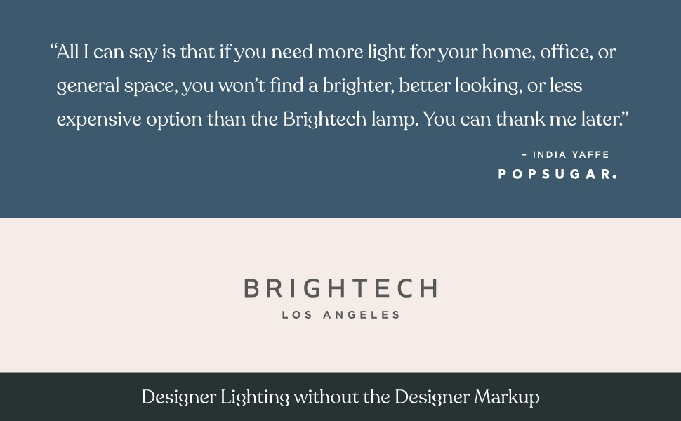 Brightech Logan - Contemporary Arc Floor Lamp w. Marble Base
