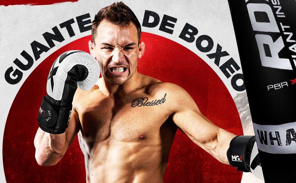 RDX Guantes de Boxeo para Muay Thai y Entrenamiento | Cuero Vacuno Mitones para Sparring, Kick Boxing | Boxing Gloves para Saco Boxeo, Combate Training: Amazon.es: Deportes y aire libre