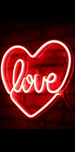 ADVPRO LED Neon sign light-ing  Love Lovers Valentines heart sweet Flex Silicone bright red passion