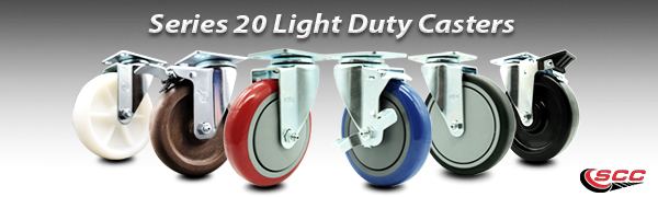 Service Caster Series 20 Light Duty Phenolic Casters