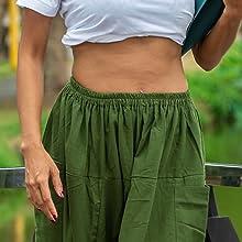 mens womens elastic waist loose fit lounge pajama aladdin hippie harem yoga pants for men women