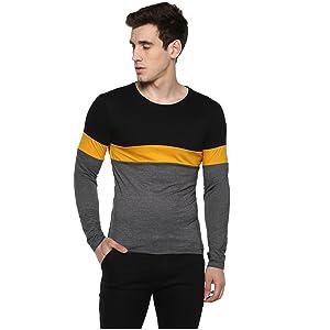 Mens tshirts; Mens tshirt stylish;Men tshirt slim fit;Men tshirt round;full sleeve tshirt mens new