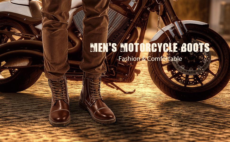 BRUNO MARC MOTORCYCLE BOOTS MEN