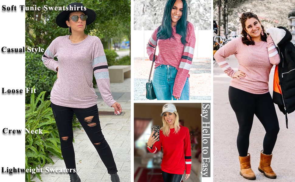 tunic sweatshirts