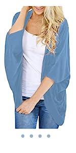 blue summer cardigan