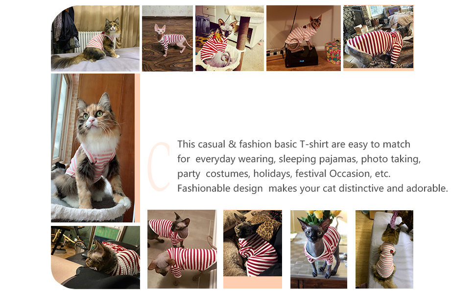 Jacket for Cats Outfit, Pink Lattice Fashion Coat Pajamas Cats Small Dogs Apparel Shirts Sweaters