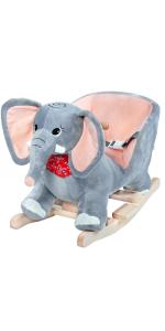 balancín mecedora niños bebes juego juguete regalo animales peluche cinturón elefante sonido