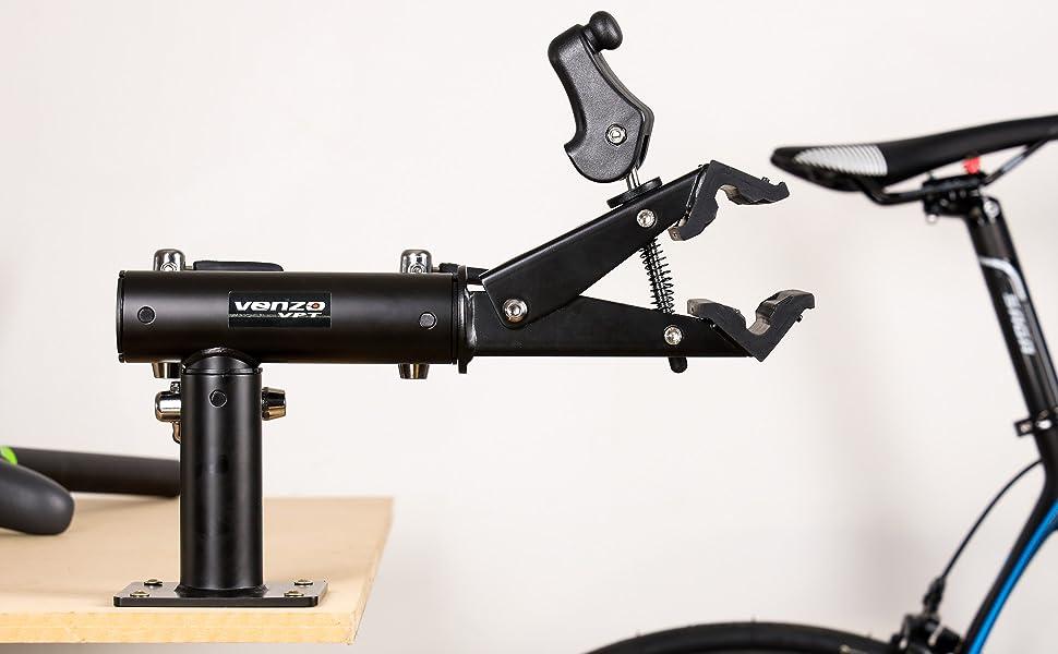 VOANZO Soporte de Patada de Bicicleta Material de Hierro Soporte de pie de Bicicleta Soporte de Bicicleta de monta/ña Ajustable Soporte de pie de Goma Pie de Goma