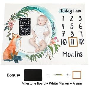 "Photography Background Blanket Boys MHJY Baby Monthly Milestone Blanket 57/""x40/"""