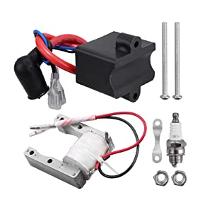 Magneto coil.  1 x CDI ignition coil(with mounting parts).  1 x spark plug.