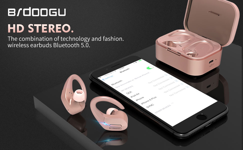 Bluetooth 5.0 True  Wireless Earbuds  Bluetooth