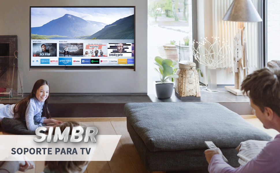 SIMBR Soporte TV Pared Inclinable ±15° VESA Máx. 600x400mm Soporte ...