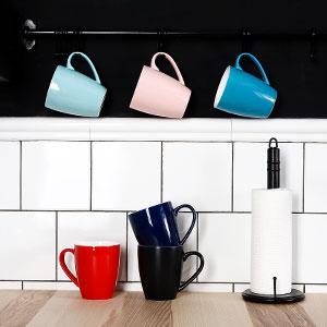 colored mugs