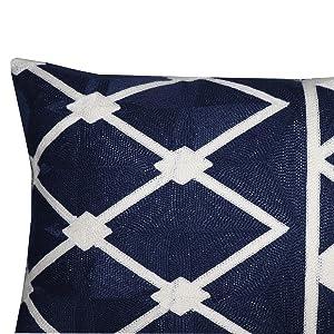 navy lumbar pillow covers