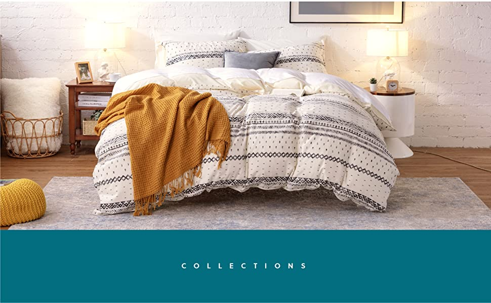 Bedsure linen & cotton duvet cover set has you covered