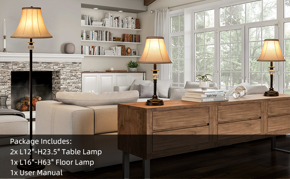 fabric lamp set