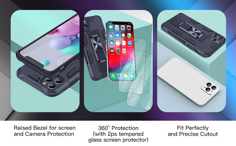 JAME Military Grade Portection case for iPhone 11 Pro-Black