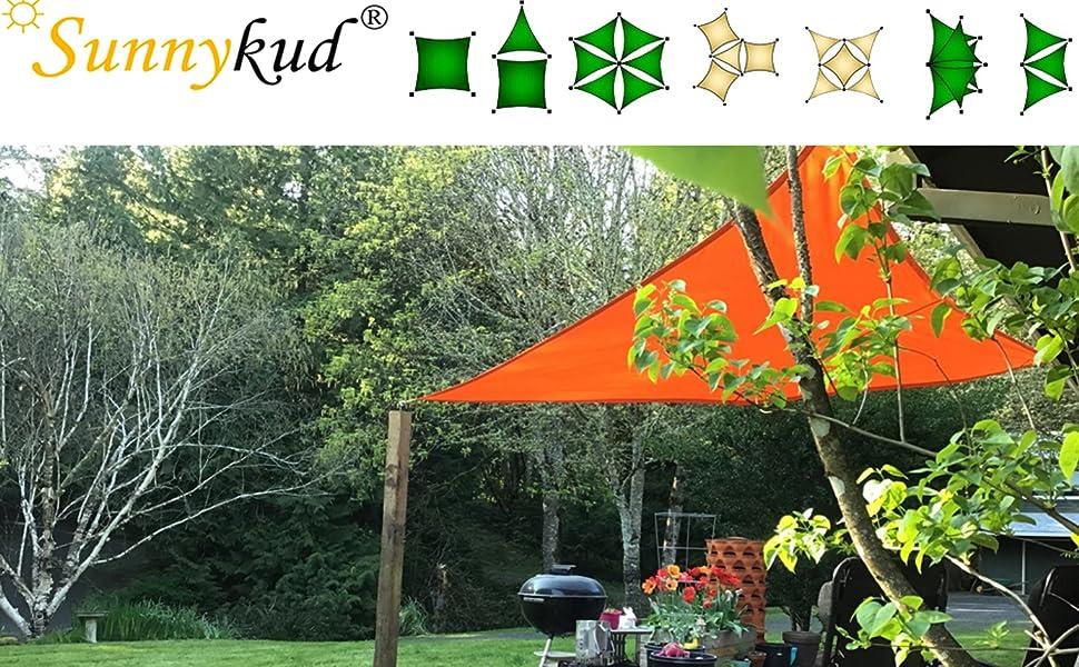 sunnykud sun shade sail waterproof sun shade square sun shade sail square canopy UV block shade