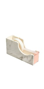 tape dispenser rose gold white marble