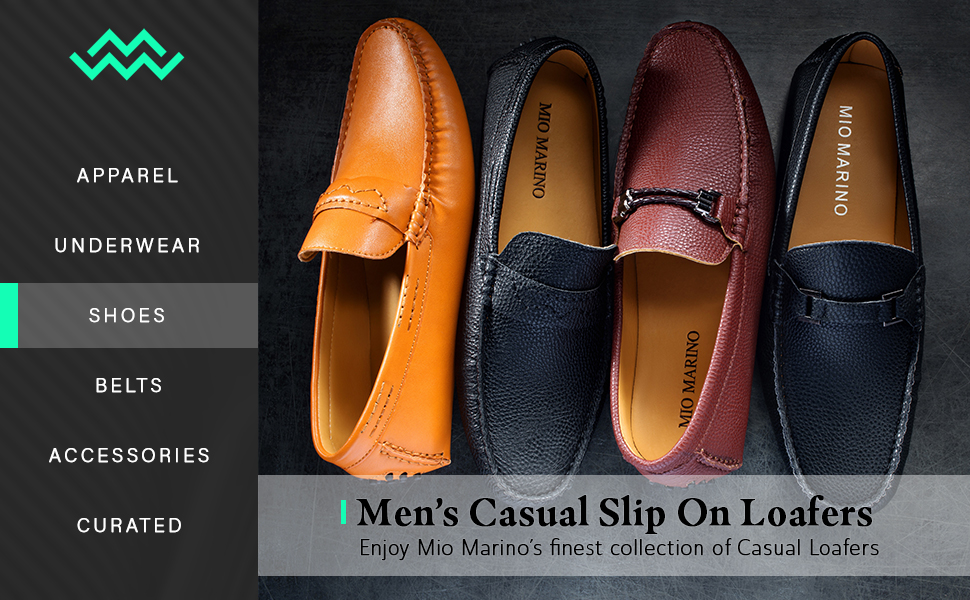 74d020cf59ce Mio Marino Mens Loafers - Italian Dress Casual Loafers for Men ...