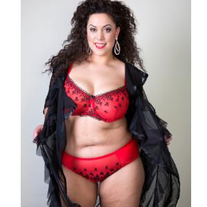 Garter size 10-26 Viva Voluptuous Suspender Red Wide Plus Size Suspender