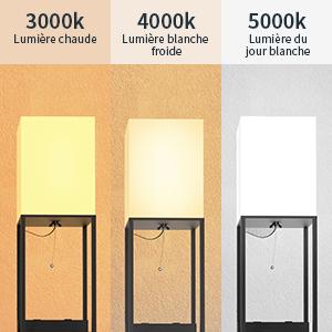 Ampoule DEL à 3 températures de couleur incluse