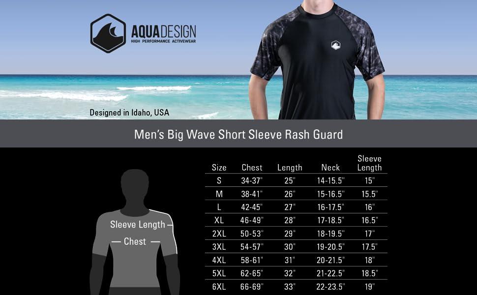 men swim rashguard shirt uv protection plus adult sun upf guard aqua short sleeve athletic sport