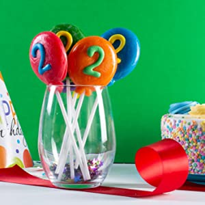 party balloons number lollipops birthday party favors