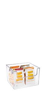 Plastic Open Front Food Storage Kitchen Shelf Freezer Fruit Potato Onions, Drink Snack Pasta Wide