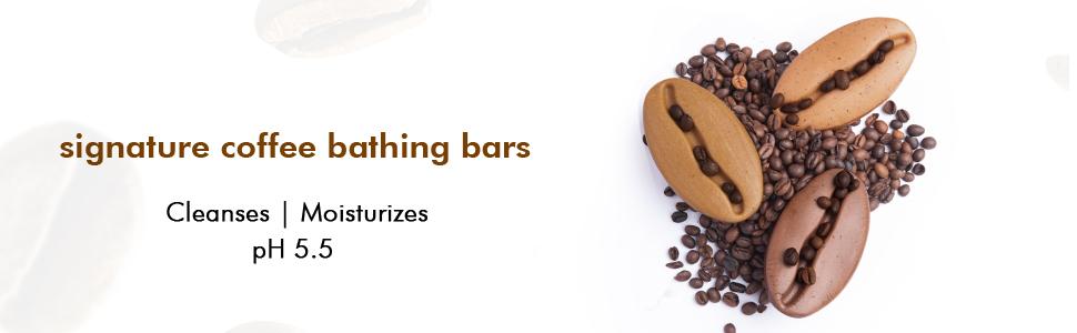 signature coffee bathing bars cleanses moisturizes ph 5.5