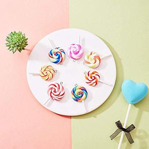 Colorful Lollipops Pendant Polymer Soft Pottery Ornaments