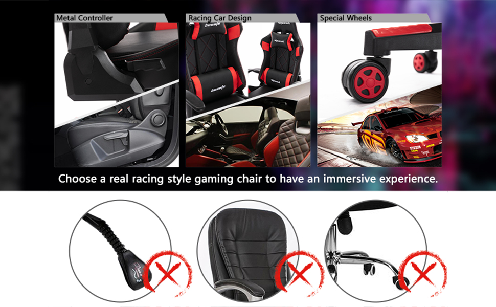 real racing style gaming chair