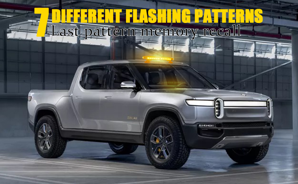 7 Different flashing patterns