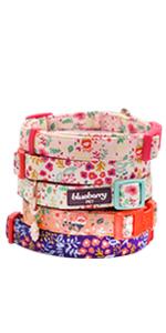 cotton fabric floral dog collar