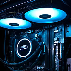 DEEPCOOL RGB LED Lighting対応 簡易水冷CPUクーラー [Intel/AMD両対応] GAMMAXX L240 V2