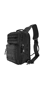 Tactical Sling Bag Pack with Pistol Holster