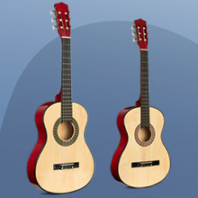 music zone beginners guitar fantastic little one kid child starter learn basswood finish durable